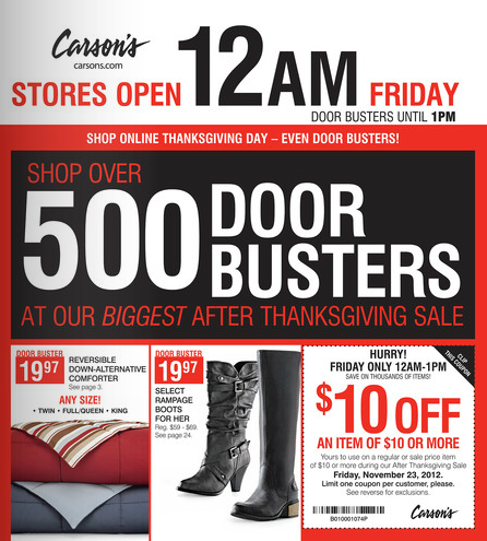 Carsons Black Friday Ad 1
