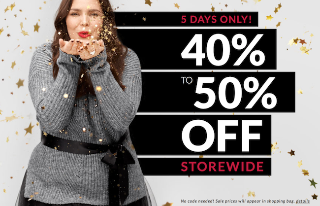Top Lane Bryant Black Friday Deals To Look Out For. With the Lane Bryant Black Friday Sale at bay, you can avail a discount of up to $50 on a wide range of clothing products and accessories. Just use the Lane Bryant Black Friday Sale coupons below to avail the discount on the mentioned categories or products.