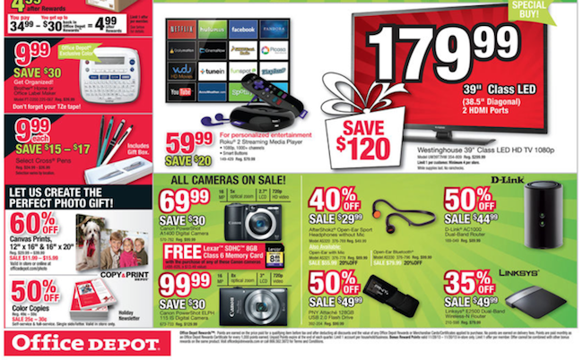 Office Depot Black Friday ad 08