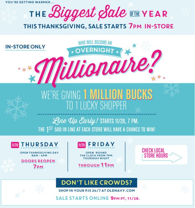 Old Navy Black Friday ad 2013