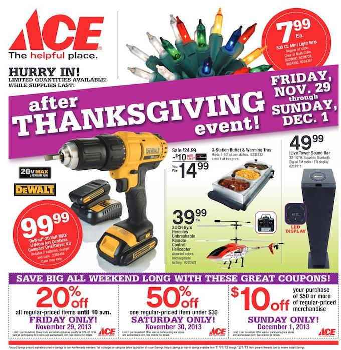 ACE Black Friday ad 2013