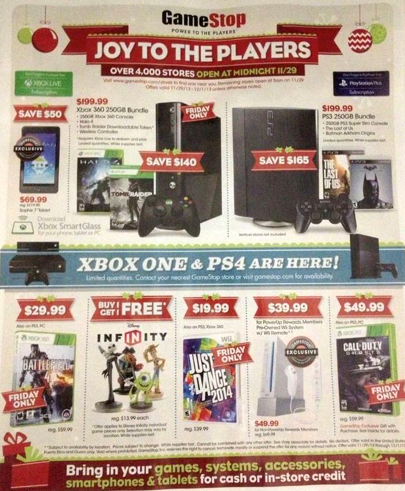 Game Stop black friday 2013 ad