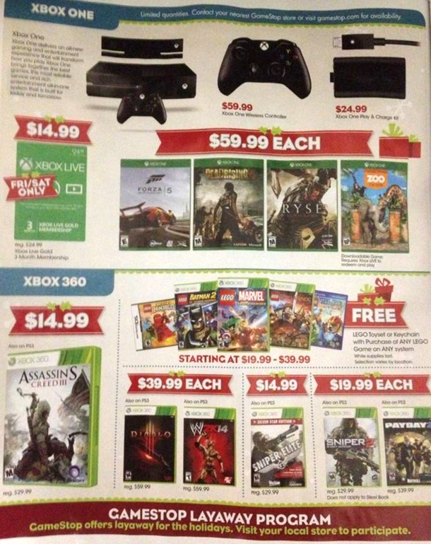 Game Stop black friday ad