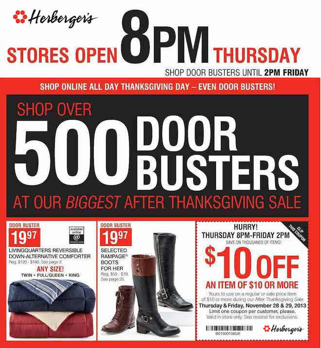 Herbergers Black friday 2013 ad