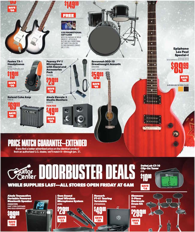 Guitar Center Black Friday Ad 3