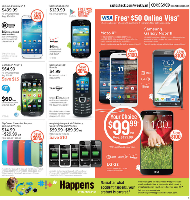 Radio Shack Black Friday ad 2013 03