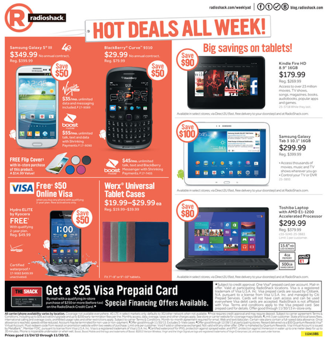 Radio Shack Black Friday ad 2013 04