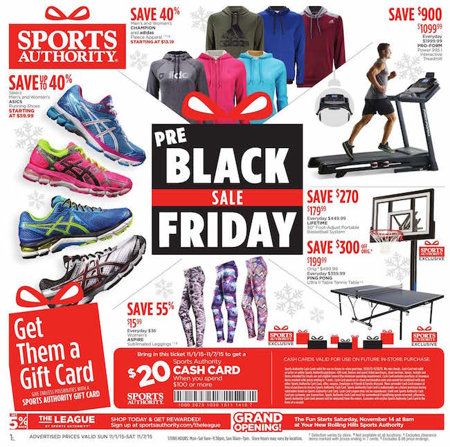 Sports Authority Black Friday ad