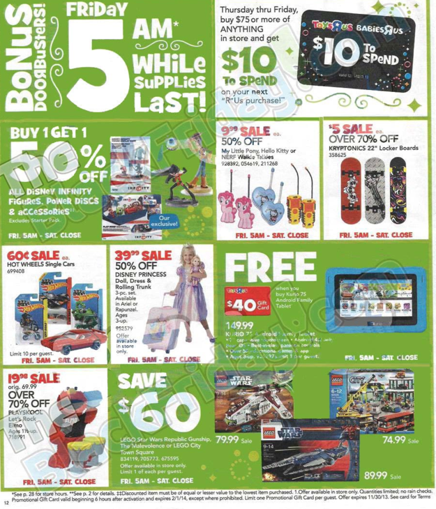 Toys R Us Black Friday ad 2013 12
