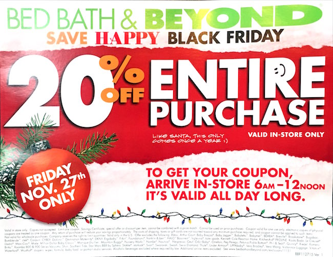 Bed Bath Beyond Black Friday