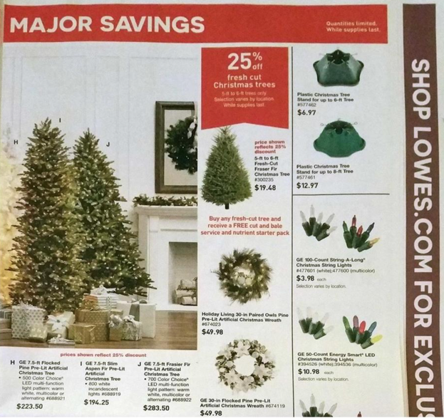 lowes black friday ad black friday ads lowes christmas trees black friday - Lowes Fresh Cut Christmas Trees