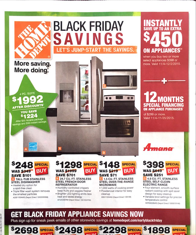 Home Depot Black Friday ad