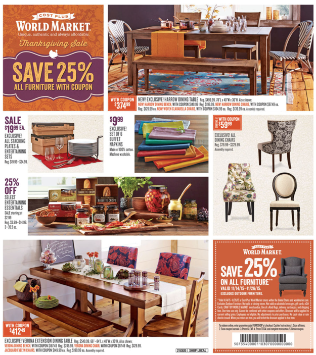 World Market Black Friday Ad