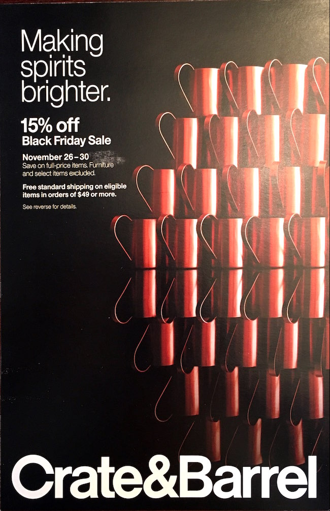 Crate and Barrel Black Friday