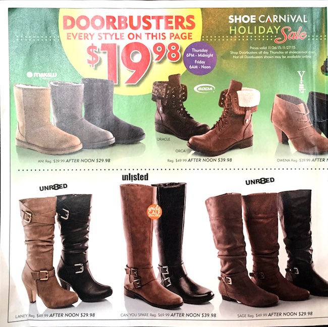 Shoe Carnival Black Friday Ad00002